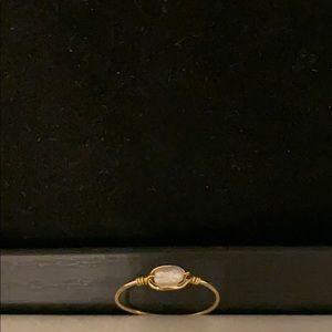18k gold freshwater pearl ring